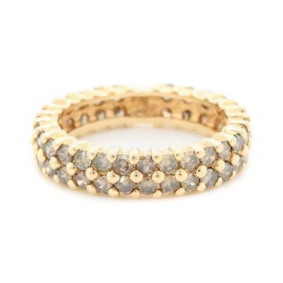 14K Yellow Gold 1.62 CTW Diamond Band