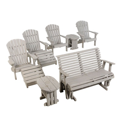 Wooden Patio Furniture with Adirondack Chairs