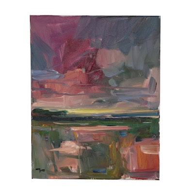 """Jose Trujillo Oil Painting """"Earthly Beauty"""""""