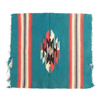 Handwoven Southwestern Wool Blend Mat, Mid-Century