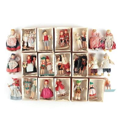 German Miniature International All Bisque Dolls and Other Miniature Dolls