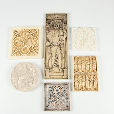 Facsimiles Ltd. Resin Religious Wall Hangings and Other Wax Wall Hangings