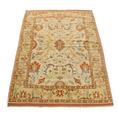 5'9 x 8'2 Hand-Knotted Turkish Oushak Rug
