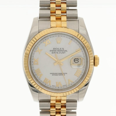 Rolex Datejust 18K Yellow Gold and Stainless Steel Wristwatch, 2004
