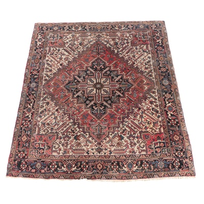8.3' x 9.8' Hand-Knotted Persian Heriz Wool Rug