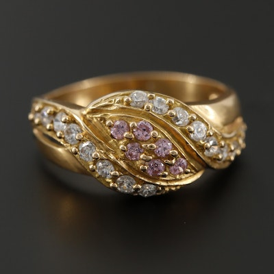 18K Yellow Gold Cubic Zirconia Ring