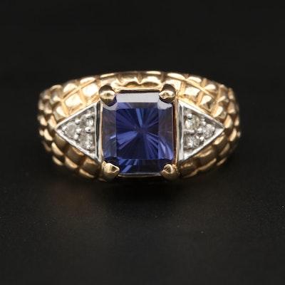 Le Vian 14K Yellow Gold 3.27 CT Tanzanite and Diamond Ring
