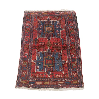 3'3 x 4'11 Hand-Knotted Persian Karajeh Rug, Semi-Antique
