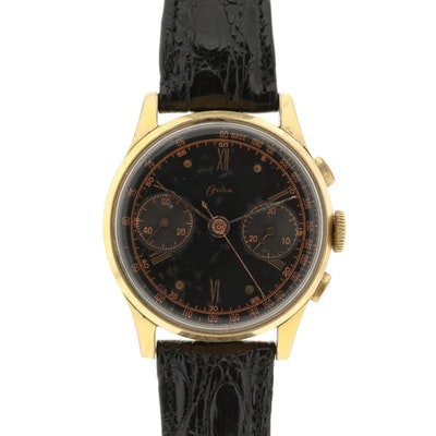Onsa Gold Tone Chronograph Wristwatch