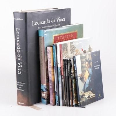 Art Books Featuring Leonardo Da Vinci and Other Renaissance Artists