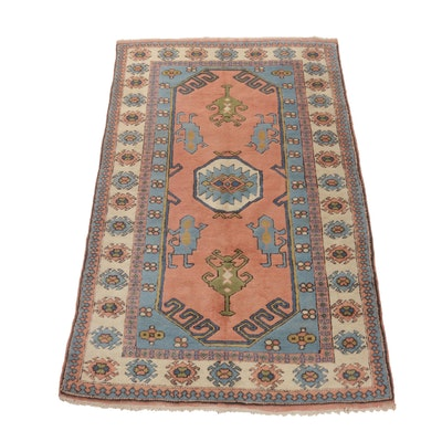 4'9 x 7'7 Hand-Knotted Turkish Village Rug