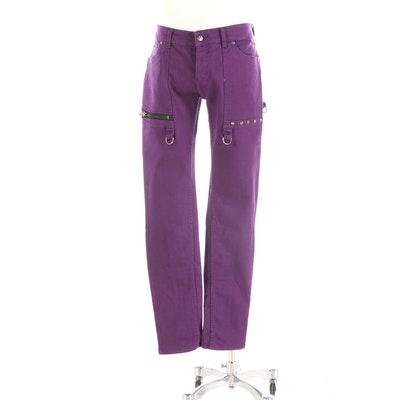 Men's Lip Service Classic Bondage Stretch Jeans in Purple
