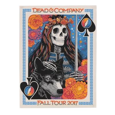 John Vogl Serigraph Concert Poster for Dead & Company Fall Tour 2017