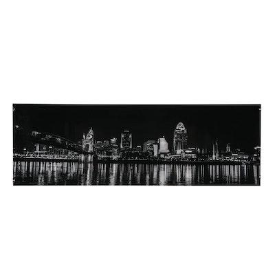 Nicole Egbert Digital Panoramic Photo of the Cincinnati Skyline