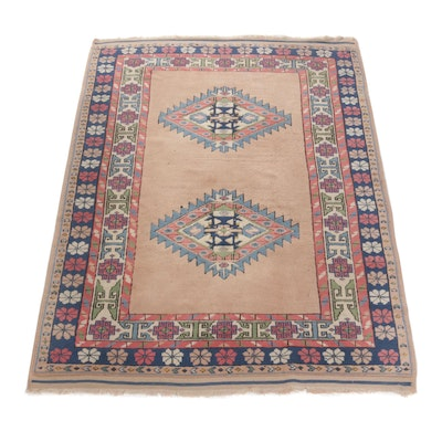 5'4 x 7'6 Hand-Knotted Turkish Village Rug