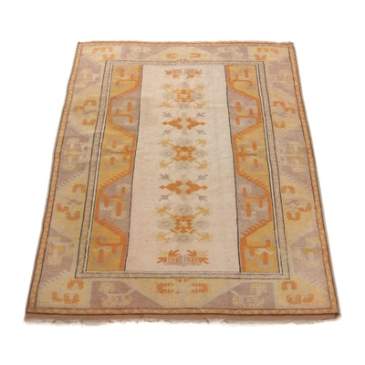 5'3 x 6'8 Hand-Knotted Turkish Village Rug