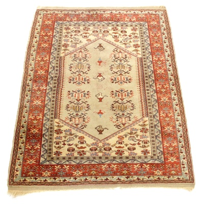 4'6 x 6'2 Hand-Knotted Turkish Village Rug