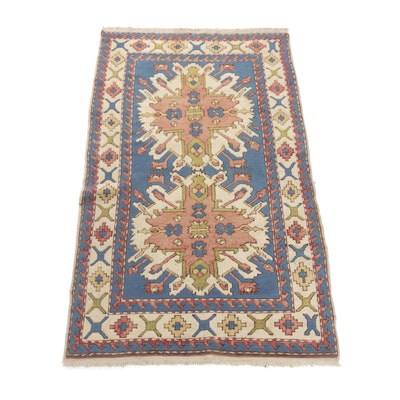 4'1 x 7'2 Hand-Knotted Caucasian Turkish Rug