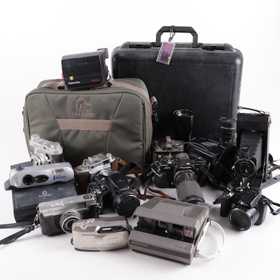 Brownie, Olympus, Ansco, Ciro, Minolta with Other Cameras and Accessories