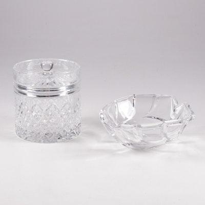 Marquis by Waterford Crystal Bowl with Royal Brierley Crystal Biscuit Jar