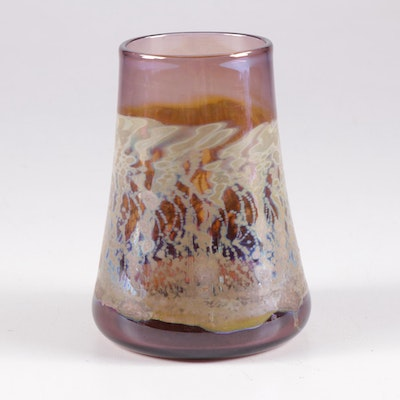 Robert Coleman Iridescent Art Glass Vase