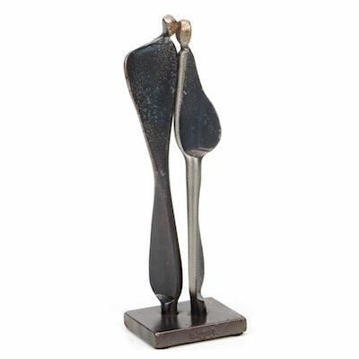 Boris Kramer Cast Iron Abstract Figural Sculpture