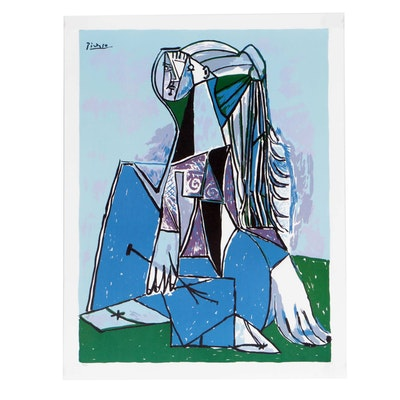 "Offset Lithograph after Pablo Picasso ""Portrait of Sylvette David"""