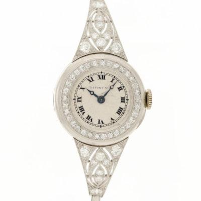 Tiffany & Co. Platinum and 1.25 CTW Diamond Wristwatch