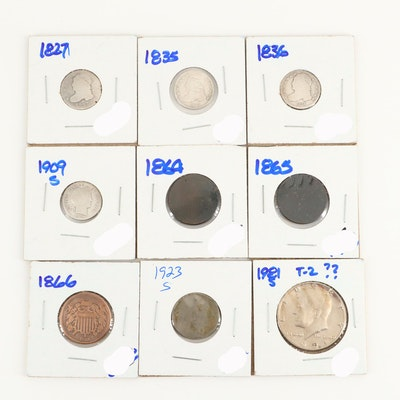 American Coin Assortment Including a 1923-S Buffalo Nickel