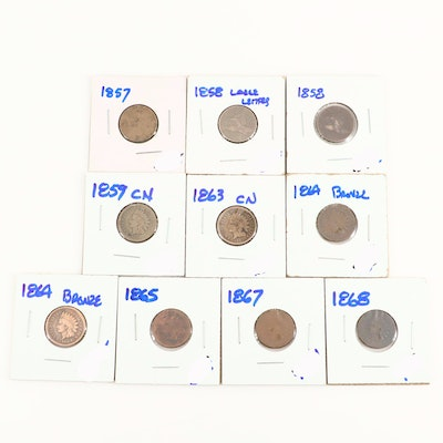 Assorted Flying Eagle and Indian Head Cents Ranging from 1857-1868