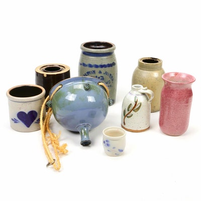 North American Stoneware and Clay Vessels, Vintage and Contemporary