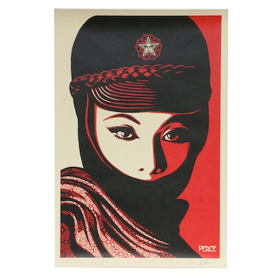 """Shepard Fairey Offset Print """"Mujer Fatale"""""""