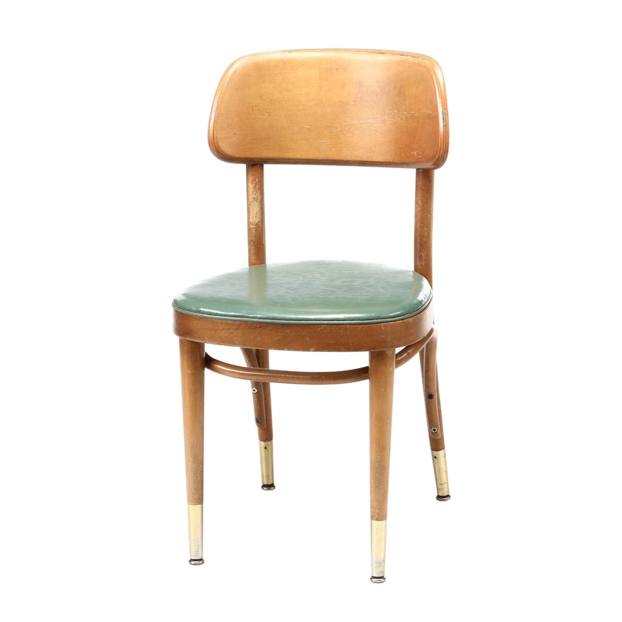 Vintage Miami University Birch Side Chair, Circa 1950s