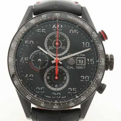 TAG Heuer Carrera 1887 Titanium and Black PVD Automatic Wristwatch