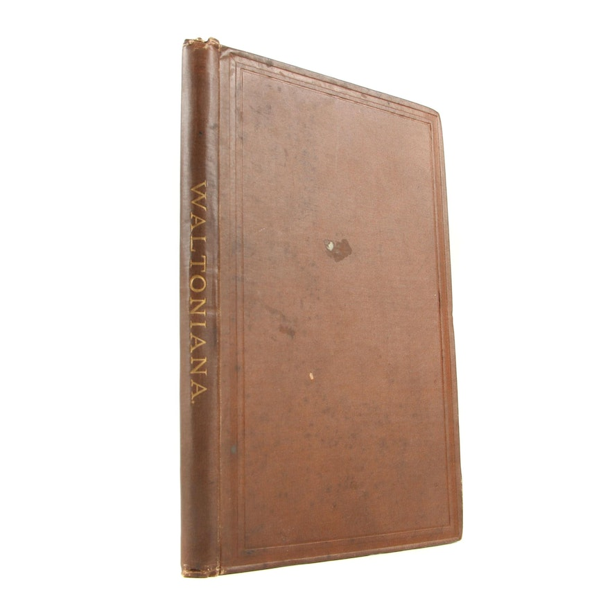 "Signed First Edition ""Waltoniana: Prose of Izaak Walton"" by R. H. Shepherd, 1878"