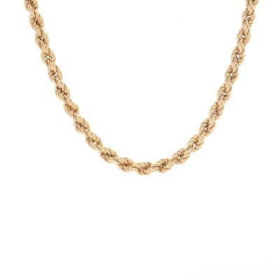 14K Yellow Gold Rope Chain