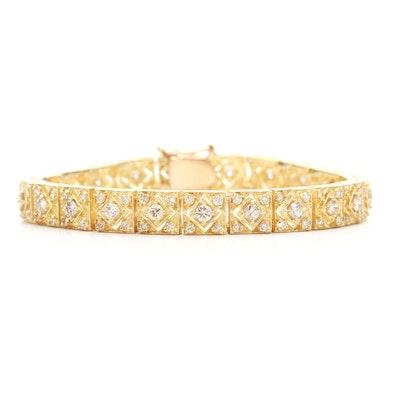 14K Yellow Gold 3.52 CTW Diamond Bracelet