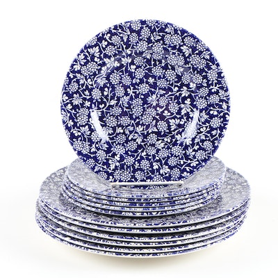 "Royal Stafford ""Blackberry Blue"" Earthenware Dinnerware, Contemporary"