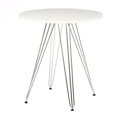 "Emerald Home ""Audrey"" Chrome and Wood Table"