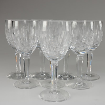 """Waterford Crystal """"Kildare"""" Claret Wine Glasses, Mid to Late 20th Century"""