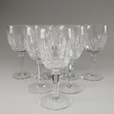 """Waterford Crystal """"Kildare"""" Water Goblets, Mid to Late 20th Century"""