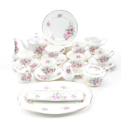 "Elizabethan ""Caroline"" and Canadian Classic Bone China Tea Set"