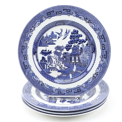 "Johnson Bros. ""Willow Blue"" Earthenware Dinner Plates, 1940 - 2003"