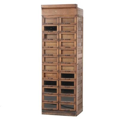 Antique Birch Glass Drawer Front Retail Display Cabinet