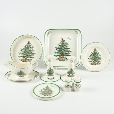 "Spode ""Christmas Tree"" Earthenware Table Accessories and Serveware"