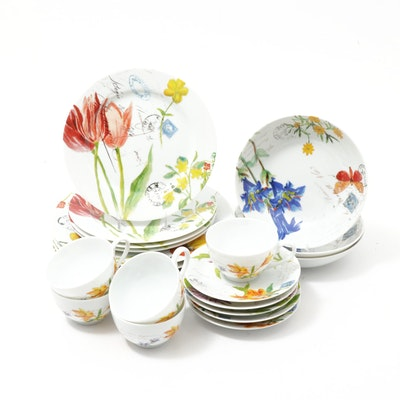 "Bernardaud for Williams-Sonoma ""Jardin des Fleurs"" Dinnerware"