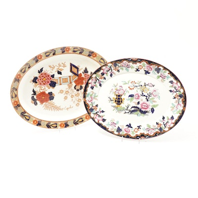 """Ridgway """"Simlay"""" and Woods Ware """"Wincanton"""" Platters, Antique"""