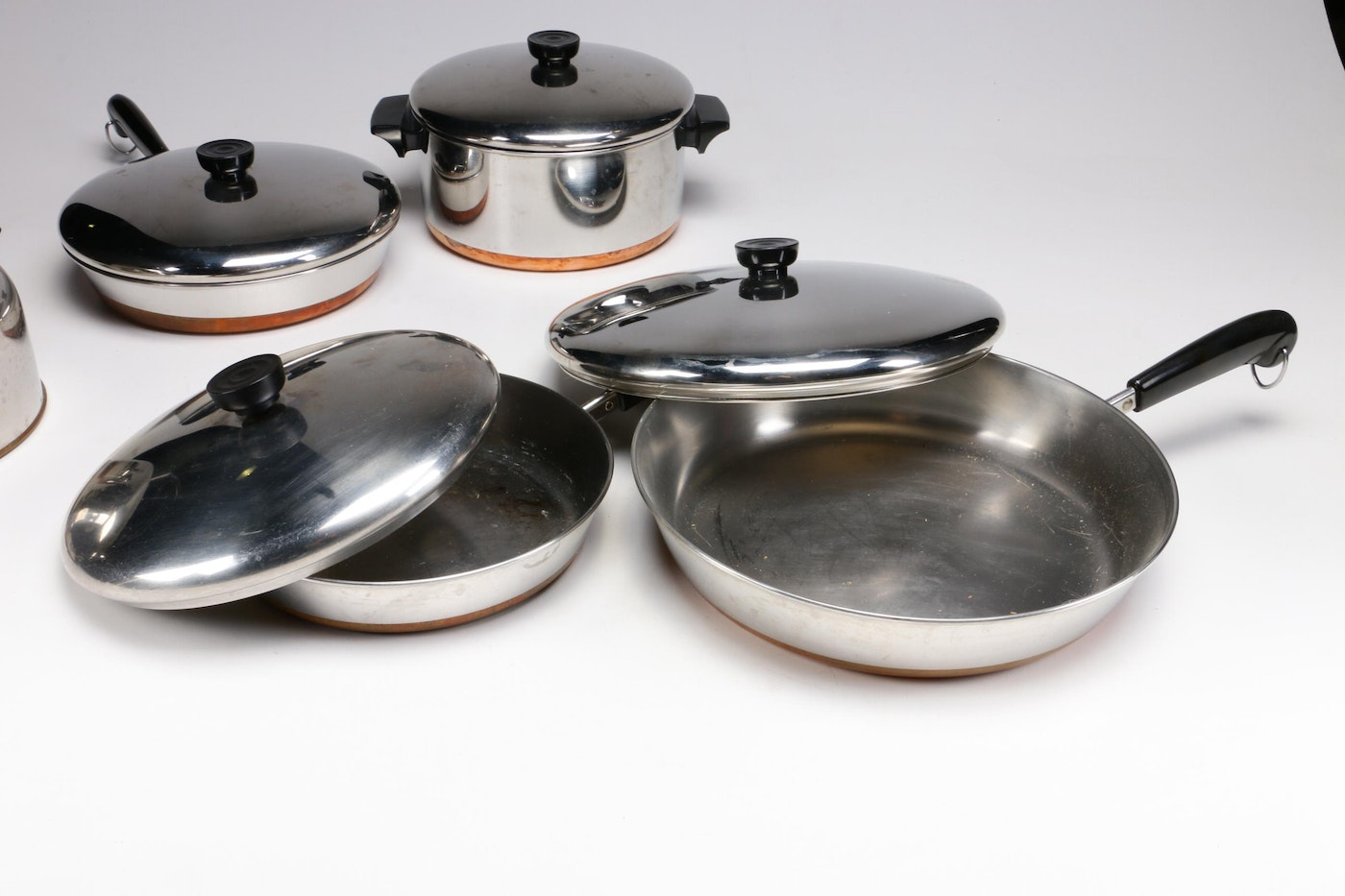 Revere Ware Stainless Steel And Copper Cookware, Mid To