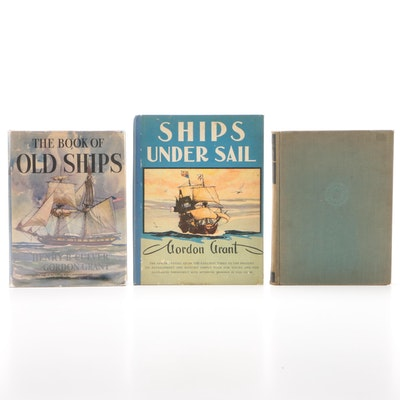 "Watercraft Books featuring ""The Book of Old Ships"" by Henry B. Culver, 1935"