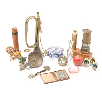 San Francisco Cable Car Brass Bell, Brass Telescope, Tin Toy and More